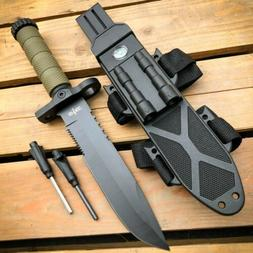 """12.5"""" MILITARY TACTICAL Hunting FIXED BLADE SURVIVAL Knife w"""