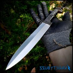 """12"""" Fixed Blade Hunting Knife TWISTED HAND FORGED CARBON STE"""