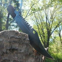 "13"" TACTICAL SURVIVAL Rambo Full Tang FIXED BLADE KNIFE Hunt"