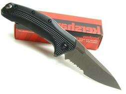 Kershaw Link Serrated Folding Pocket Knife ; 2-Step Serrated