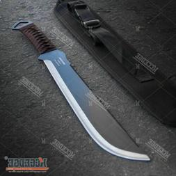 """19.25"""" Fixed Blade Full Tang Saw Back Serrated Spine HUNTING"""