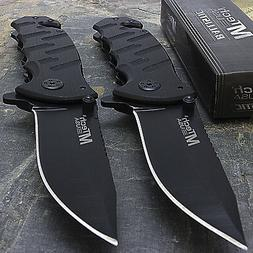 """2 x 7.75"""" MTECH USA RESCUE BLADE STAINLESS STEEL TACTICAL FO"""