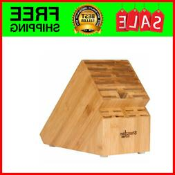 20 Slot Bamboo Universal Knife Block Without Knives. Knife S