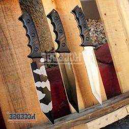"""3 Colors 13.5"""" WARTECH RAMBO KNIFE Tactical Combat Bowie Fix"""