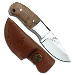 5 mini burlwood hunter hunting knife fixed