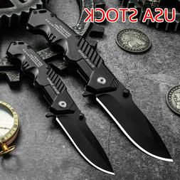 USA 57HRC Folding Knife Tactical Quick Open Assisted EDC Smi