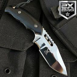 "6"" Bone Edge Tactical SURVIVAL Fixed Blade FULL TANG HUNTING"