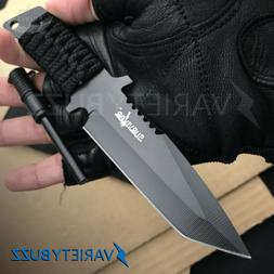 """7"""" TACTICAL COMBAT SURVIVAL Boot Tanto HUNTING KNIFE Bowie M"""