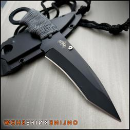"""7"""" TACTICAL MILITARY COMBAT FIXED BLADE NECK BOOT KNIFE w/ S"""