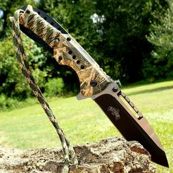 "8.25"" Hunting Folding Pocket Knife Spring Assisted Open Camo"