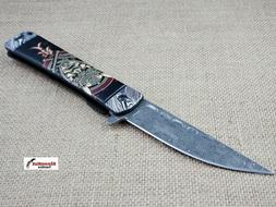 "8.25"" Samurai Japanese Style Spring Assisted Open Pocket Kni"