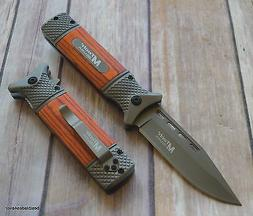 8.5 INCH MTECH TACTICAL ASSISTED OPEN KNIFE WITH POCKET CLIP