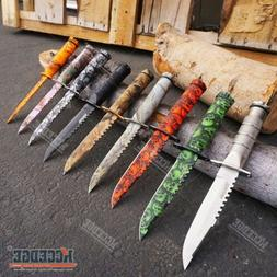 """8.5"""" WARTECH SURVIVAL KNIFE Camping Hunting Sawback FIXED BL"""