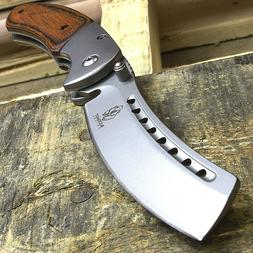 "8"" BUCKSHOT RAZOR BLADE STYLE WOOD SPRING OPEN ASSISTED FOLD"