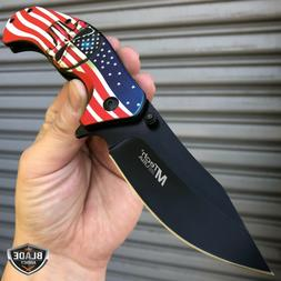 """8"""" MTECH USA American Flag Punisher Skull SPRING ASSISTED Fo"""