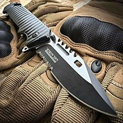 9 spring assisted open sawback bowie tactical