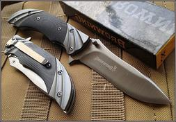 BROWNING FLUTED LINERLOCK FOLDING KNIFE 4 INCH CLOSED WITH P