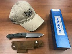 "Benchmade 162 Bushcrafter Fixed 4.43"" S30V Satin Blade w/FRE"