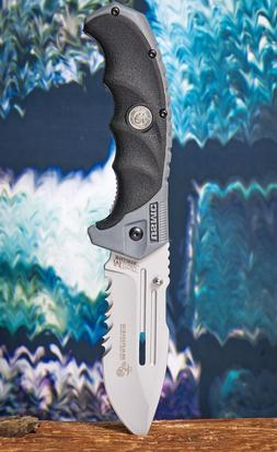 MTech USA 5 Inch Marines Spring Assisted Knife Black Grey