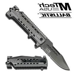 MTech USA MT-A825GY RESCUE FOLDER 12SPRING ASSISTED KNIFE NI