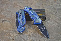 Tac-force Assisted Opening Camping Hunting Outdoor Blue/gray