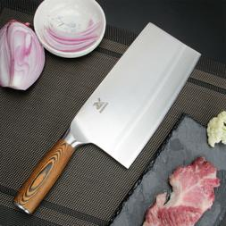 """BIGSUNNY 8"""" Chinese Kitchen Knife Meat Cleaver Vegetable Kni"""