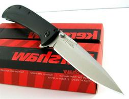 KERSHAW Black AM-5 Straight Black 8Cr13MoV ASSISTED Folding