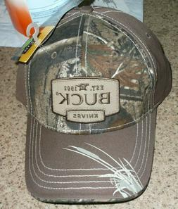 BUCK KNIVES REALTREE CAMO HAT CAP NEW with tags