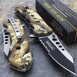 """7.75"""" Tac Force Camo Spring Assisted Tactical Folding Knife"""