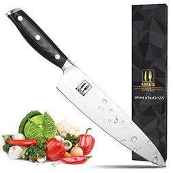 Allezola Professional Chef's Knife, 7.5 Inch German High C
