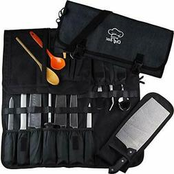Chef Knife Roll Bag| 8+ Pockets for Knives & Kitchen Utensil