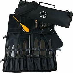 Chef Knife Roll Bag | 9 Slots for Knives Cleaver & Kitchen U