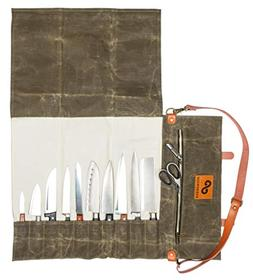 EVERPRIDE Chef Knife Roll Bag | Durable Waxed Canvas Knife C