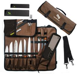 Chef Knife Roll Up Storage Bag  | Holds 10 Knives, 1 Meat Cl