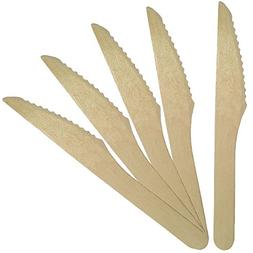 Compostable Wooden Knives, Biodegradable Party Supplies for