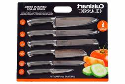 Cuisinart Knife Set German Steel with Blade Guards 6 Piece S