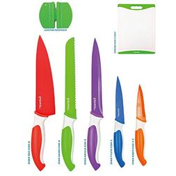 12-Piece Colored Sharp Knife Set: 5 Stainless Steel Kitchen