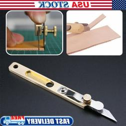 DIY Leather Craft Tools Incision Cutter Knife Copper Trimmin