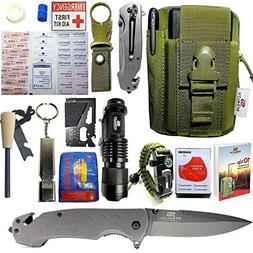 STEALTH SQUADS 42 in 1 SURVIVAL MILITARY POUCH KIT, PREMIUM