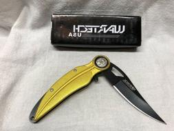 Wartech Feather Spring Assisted Folding Knife Golden
