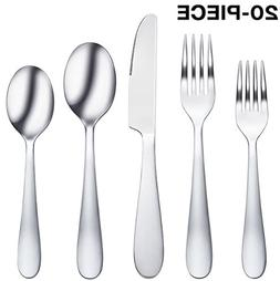 20-Piece Flatware Silverware Set Stainless Steel Cutlery Mir