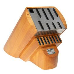 Chicago Cutlery Fusion Wood Knife Storage Block w/ Stainless