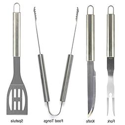 Grilling Tool Set-4 Pieces Stainless Steel BBQ Indoor & Outd