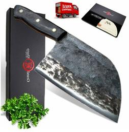 Handmade Chef Knife Chinese Forged Cleaver Vegetables Meat C
