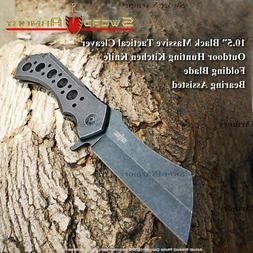 "STEC 10.5"" Heavy Huge Tactical Hunting Folding Cleaver Knife"
