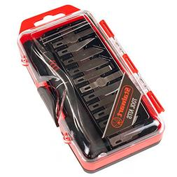 Stalwart Hobby Knife Set with Scribe Needles, 16 Pieces