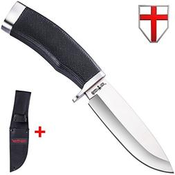 Hunting Survival Fixed Blade Knife - Bushcraft Knife with Ru