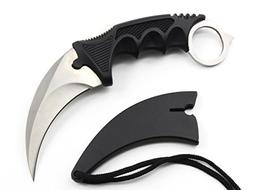 Karambit Knife Stainless Steel Fixed Blade Tactical Knife wi