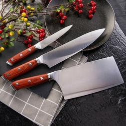 Kitchen Chef Knives Set Japanese Damascus Pattern Stainless