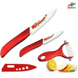 Kitchen Fruit Knife Set 3 5 Inch With Peeler Slicing White B